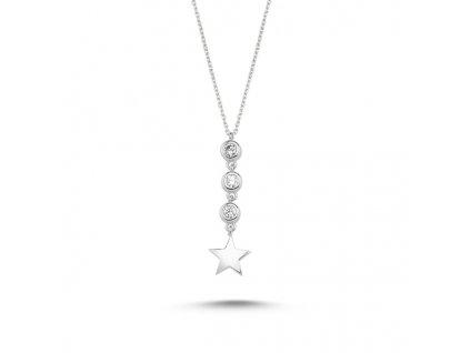 Stříbrný náhrdelník STAR