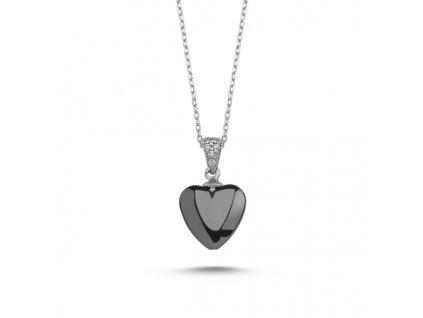 Stříbrný náhrdelník HEMATIT