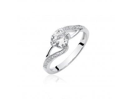 Stříbrný prsten se zirkony OLIVIE