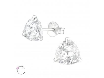 Stříbrné náušnice s krystalem Swarovski