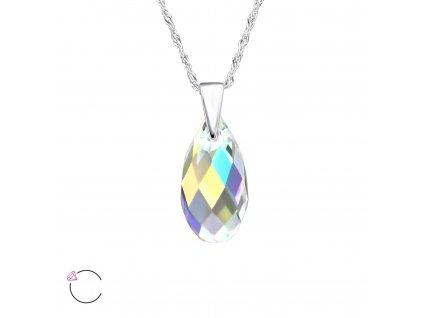 Stříbrný náhrdelník SLZA Swarovski AB