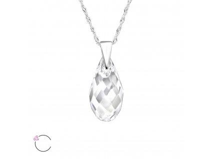 Stříbrný náhrdelník SLZA Swarovski