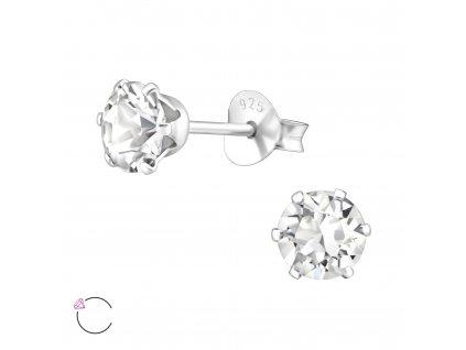 Stříbrné náušnice se Swarovski krystalem
