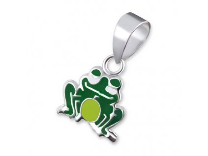 stříbrná žába přívěsek
