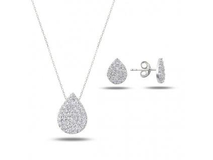 Sada stříbrných šperků KAPKA
