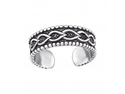 Stříbrný prsten na nohu