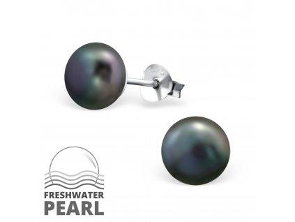 Stříbrné náušnice PERLY 8 mm