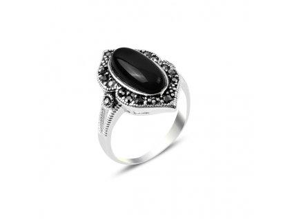Masivní stříbrný prsten HEMATIT BLACK