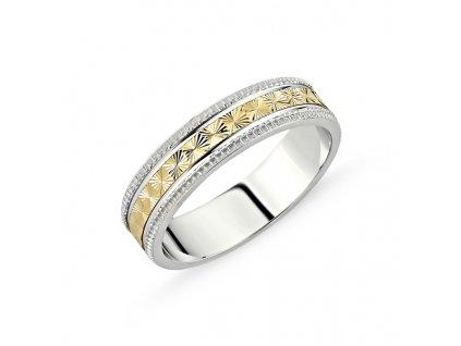 Stříbrný snubní prsten