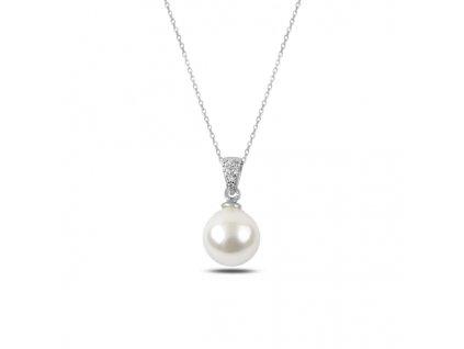 Stříbrný řetízek s perličkou