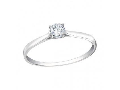 zásnubní prsten stříbrný