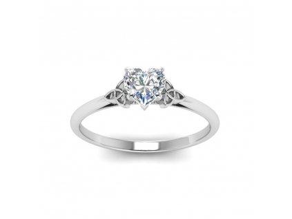 Stříbrný prstýnek se srdíčkem. Valentýn dárek. Dárek z lásky.