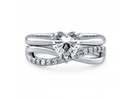 Stříbrný prsten pro zamilované 2in1