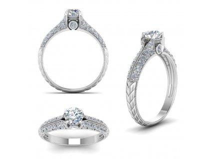 Stříbrný zásnubní prsten od OLIVIE