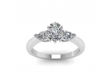 Stříbrný prsten se zirkony. Dárek pro partnerku.