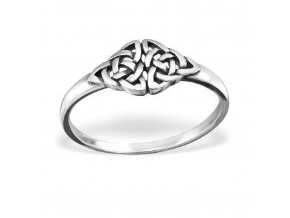 Stříbrný keltský prsten