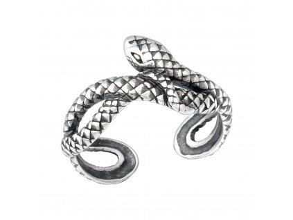 Stříbrný prsten na nohu HAD