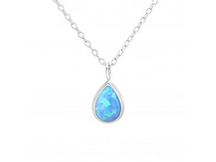 Stříbrný náhrdelník SLZA OPÁL