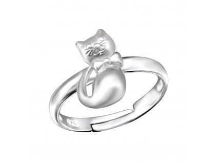 Dětský stříbrný prstýnek KOČKA