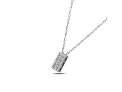 Stříbrný náhrdelník se Swarovski krystaly od OLIVIE