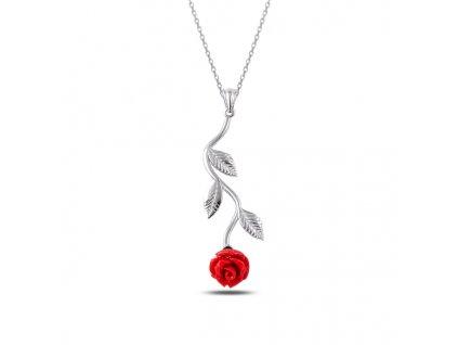Stříbrný náhrdelník RŮŽE