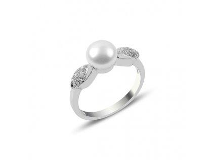 Stříbrný prsten PERLA