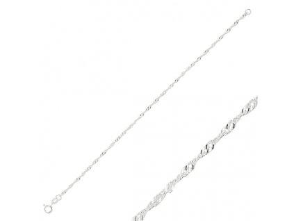 Stříbrný dámský náramek 19 cm