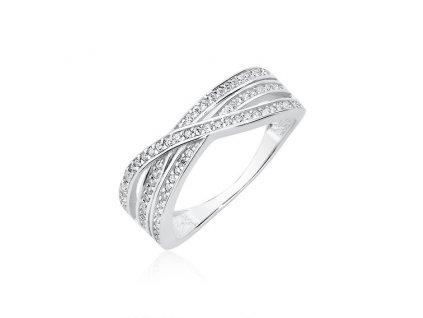 Stříbrný prsten se zirkony