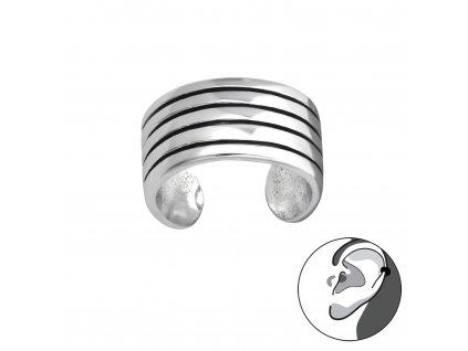 Stříbrná záušnice na jedno ucho