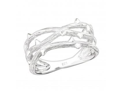 Stříbrný větvičkový prsten