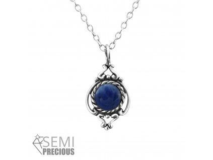 Stříbrný náhrdelník SODALIT
