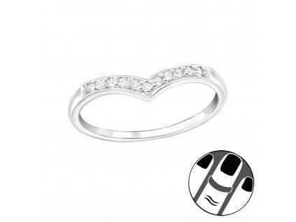Stříbrný midi prsten