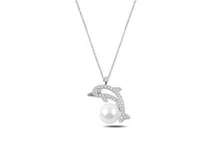 Stříbrný náhrdelník DELFÍN