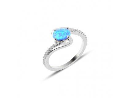 Stříbrný prsten OPÁL