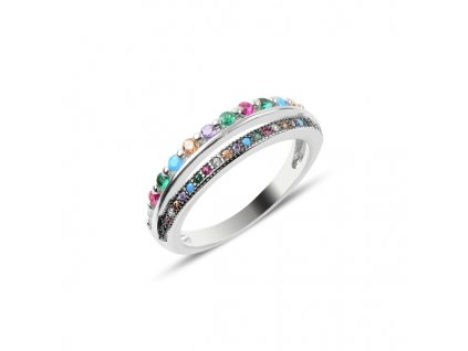 Stříbrný prsten COLORS