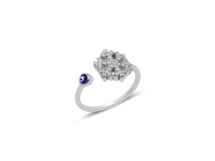 Stříbrný prsten SNĚHOVÁ VLOČKA NAZAR