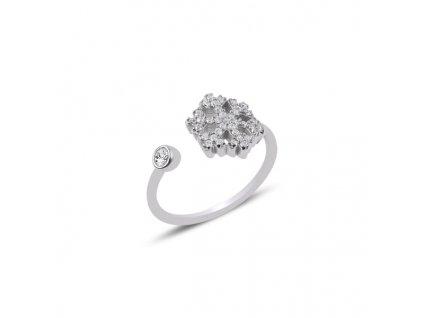Stříbrný prsten SNĚHOVÁ VLOČKA