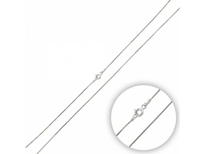 Stříbrný řetízek HAD náhrdelník SNAKE 50cm