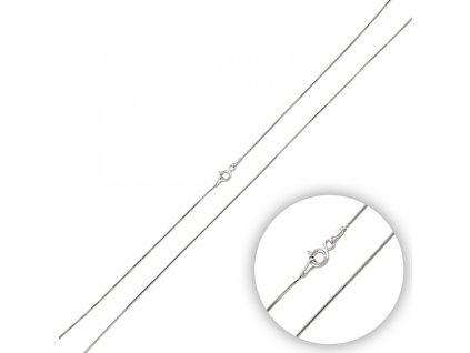 Stříbrný krátký řetízek HAD náhrdelník SNAKE 40cm