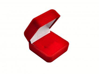 Sametová červená dárková krabička