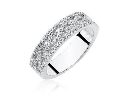 Stříbrný prsten se zirkony od OLIVIE