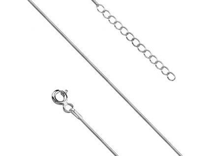 Stříbrný řetízek HAD na nohu 23-29 cm