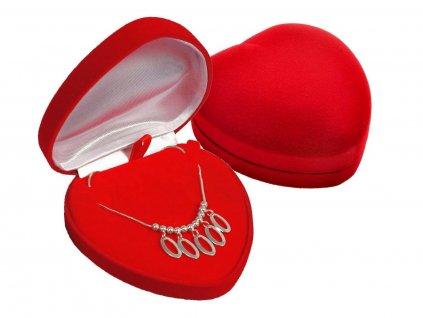 Dárková krabička VELKÉ SRDCE na řetízek, náhrdelník