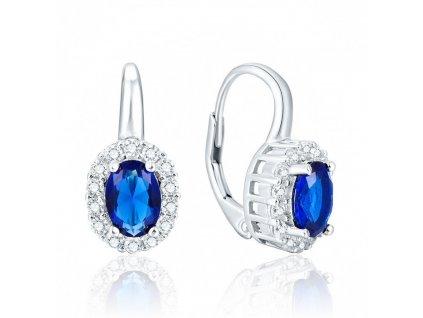 Stříbrné visací modré náušnice BLUE. Dárek pro partnerku, manželku, dceru.