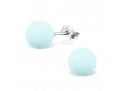 Stříbrné kuličky s pudrovou perlou 8 mm