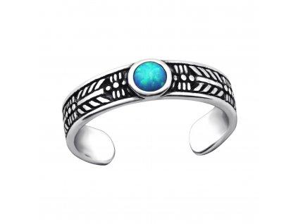 Stříbrný prsten na nohu OPAL