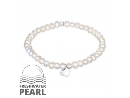 Stříbrný náramek se sladkovodními perlami