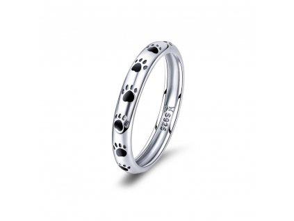 Stříbrný prsten TLAPKY, psí tlapky, kočičí tlapky