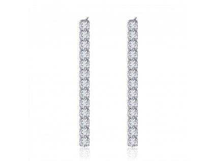 Stříbrné luxusní visací náušnice na ples, svatby, oslavy.