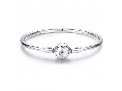 Stříbrný kruhový náramek s kuličkou od OLIVIE